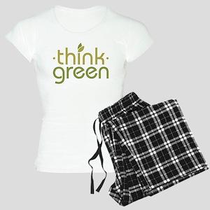 Think Green [text] Women's Light Pajamas